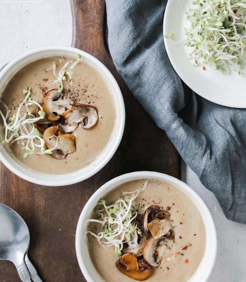 cremige Maronen-Thymian-Suppe