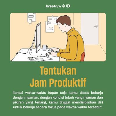 Tips kerja dirumah Tentukan Jam Produktif
