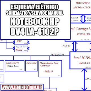 Esquema Elétrico Notebook Laptop HP DV4 LA-4102P Manual de Serviço  Service Manual schematic Diagram Notebook  Laptop HP DV4 LA-4102P    Esquematico Notebook  Laptop HP DV4 LA-4102P