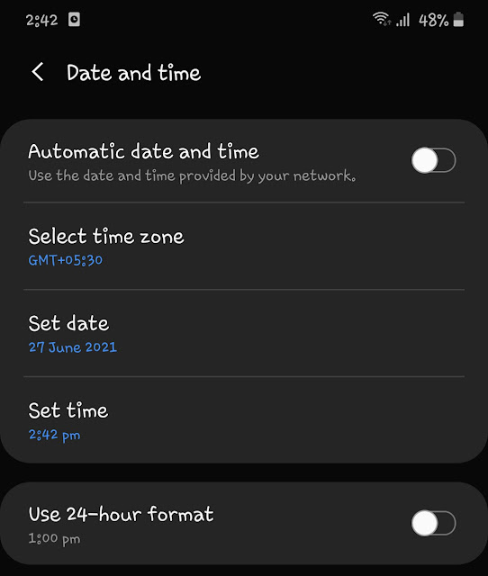 Change date and time of your phone