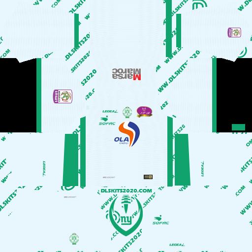 Raja Club Athletic Kit 2021-2022 LEGEA - Kit Dream League Soccer 2019 (Away)