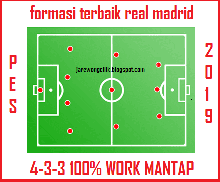 Formasi Terbaik Real Madrid Di PES 2019 (FORMASI 4-3-3)