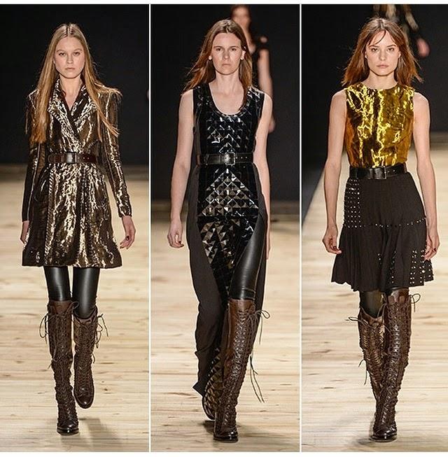 modelos de vestidos para o inverno com tons metálicos