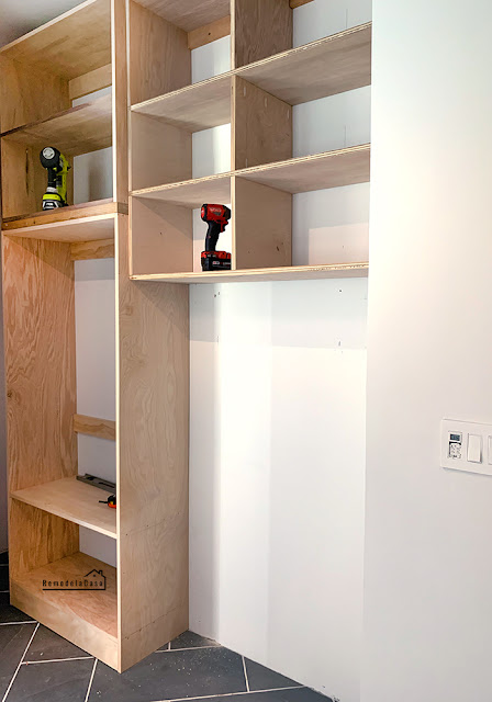 how to build and install cabinets in mudroom