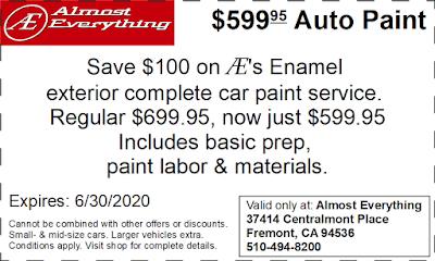Coupon $599.95 Auto Paint Sale June 2020