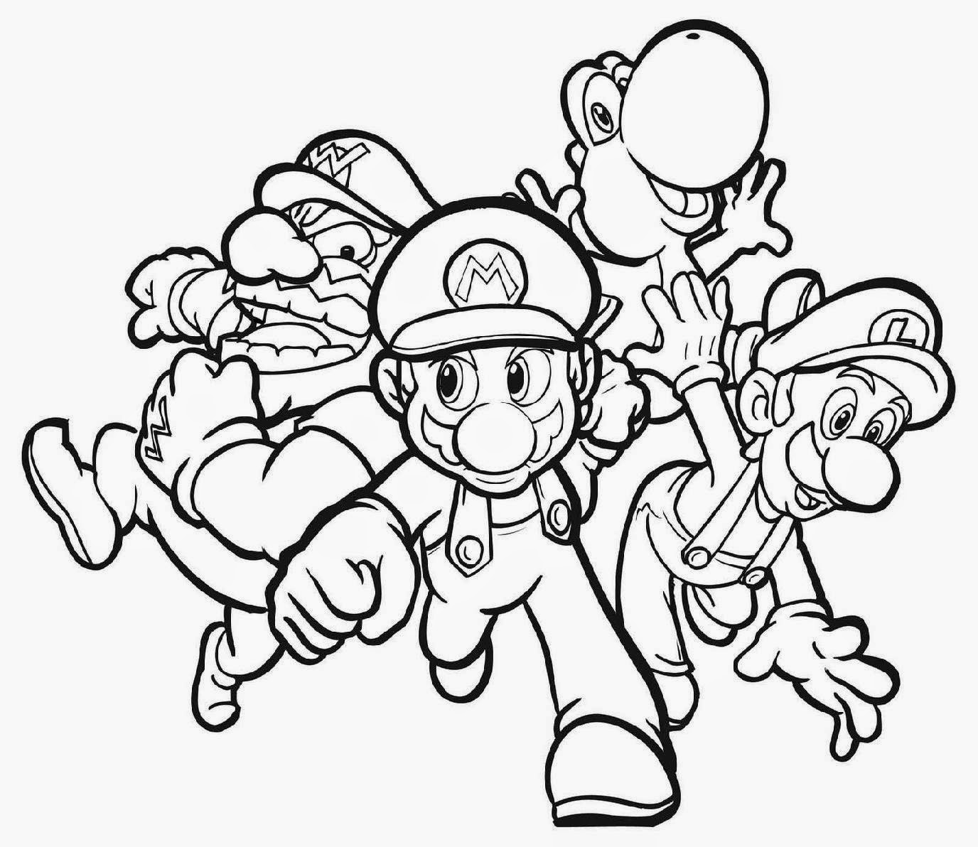 mario coloring pages to print   Free Large Images