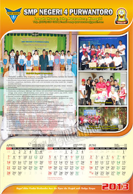 Desain Kalender 3 Bulan - Gubug Gallery