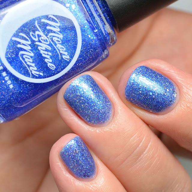 blue metallic nail polish swatch