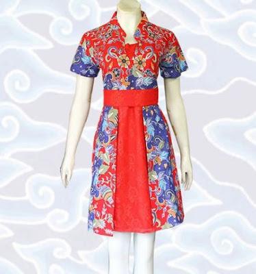contoh model baju batik wanita elegan