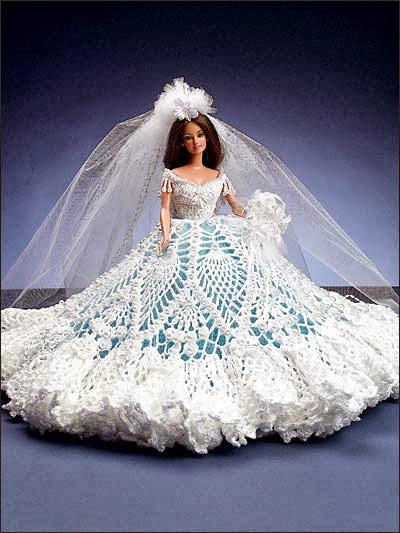 Vestidos de noiva para Barbie - Bridal dresses for barbie dolls - Para inspirar nossas criações 7