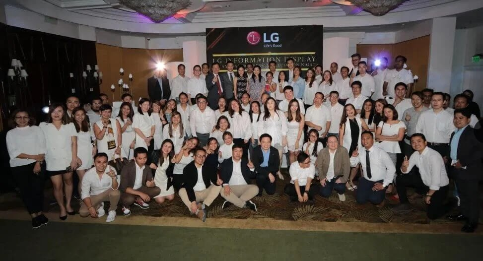 LG Philippines Toasts to a Fruitful Year at Their Information Display Partners Appreciation Night