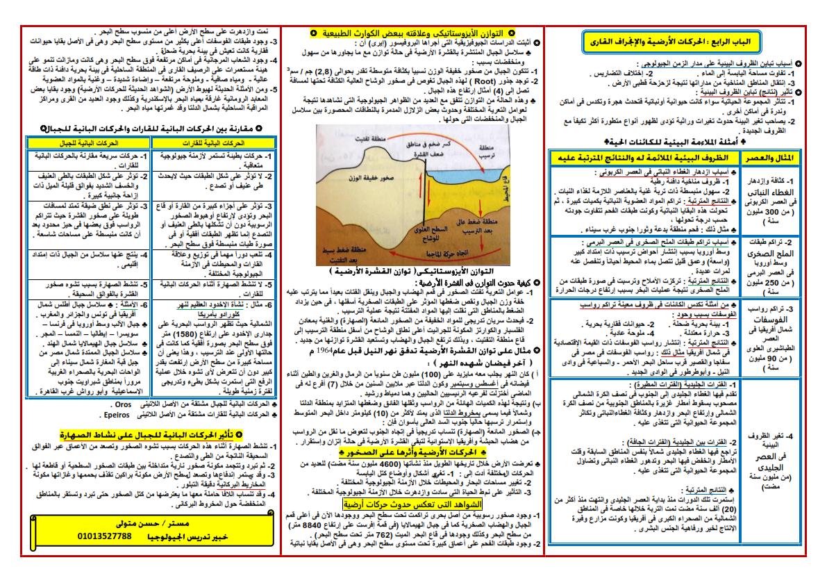 مراجعة ليلة امتحان الجيولوجيا والعلوم البيئية للثانوية العامة أ/ حسن متولي 777_006