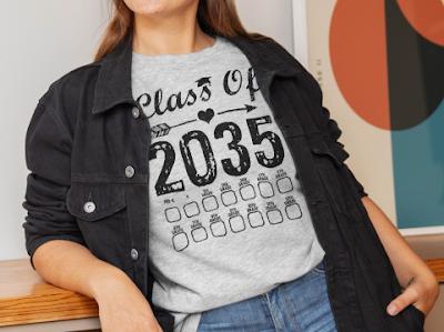 Class of 2035 Grow With Me shirt