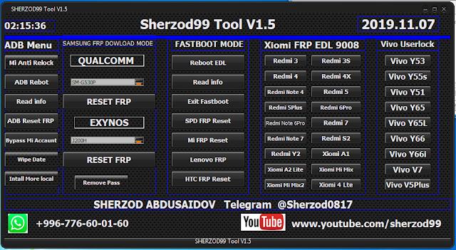 Download Sherzod99 Tool v1.5 Frp Unlock Tool 2019 Free For All By Jonaki Telecom