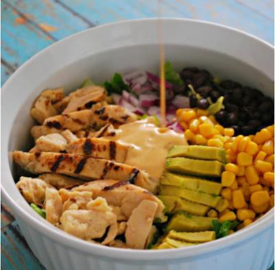 SOUTHWEST CHICKEN SALAD RECIPE #vegetarian