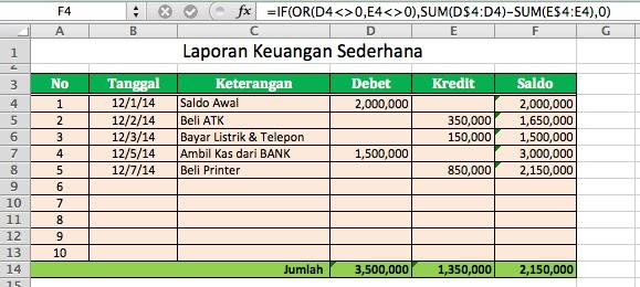 Contoh Laporan Keuangan Sederhana Excel Download Kumpulan Contoh Laporan