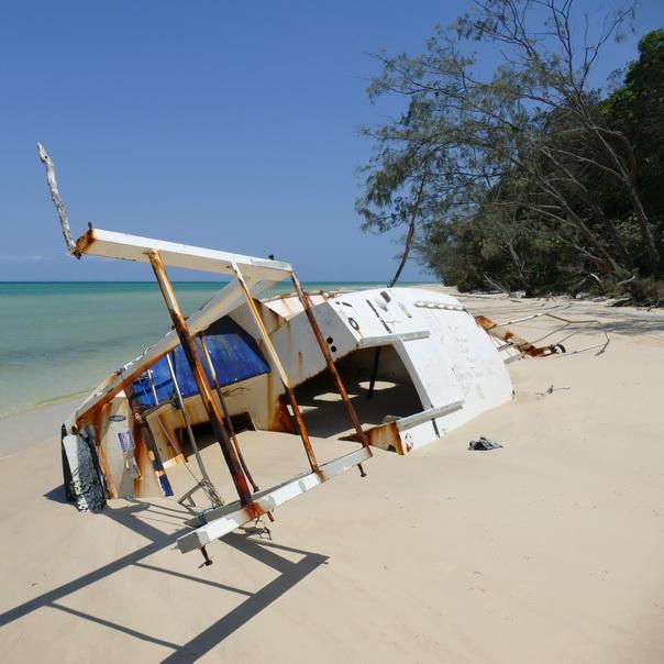 Jacht Wrack Schiff neu Moreton Island Strand
