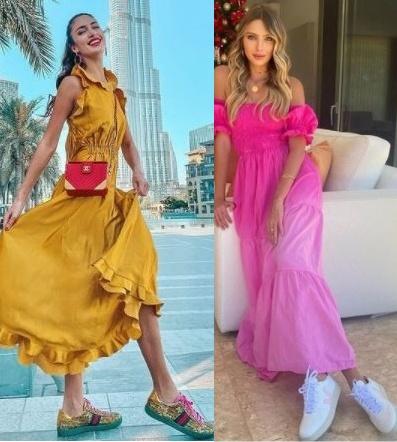 Guia de moda Looks estilosos com tênis, Anna Prevelic, Laura Dellagnese