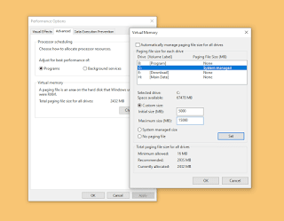 Cara Mudah Membuat / Setting Virtual Memory Windows 10, Work!