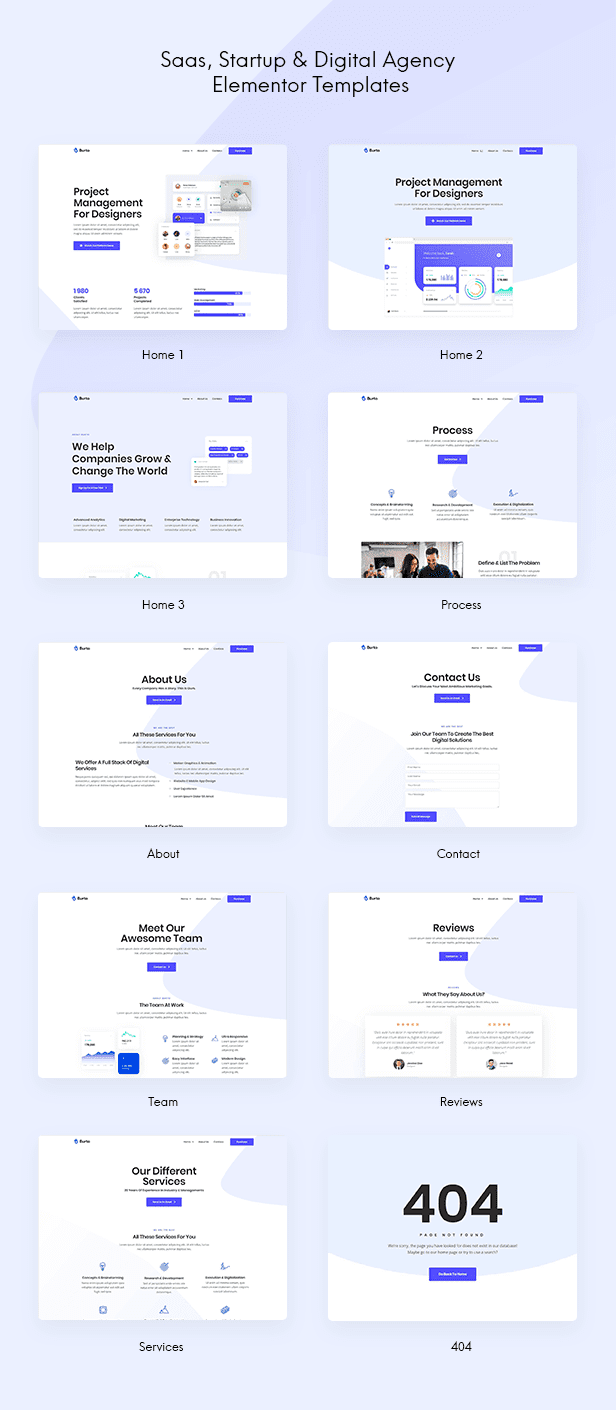 Saas & Digital Agency Elementor Template