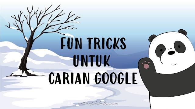 Fun Tricks Untuk Carian Google