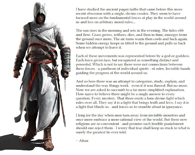 Assassin's Creed Inspiring Quotes  atheism