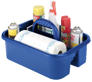 Image: Plastic Tote Cleaning Caddy