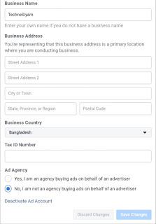 Facebook Ad Account Setting