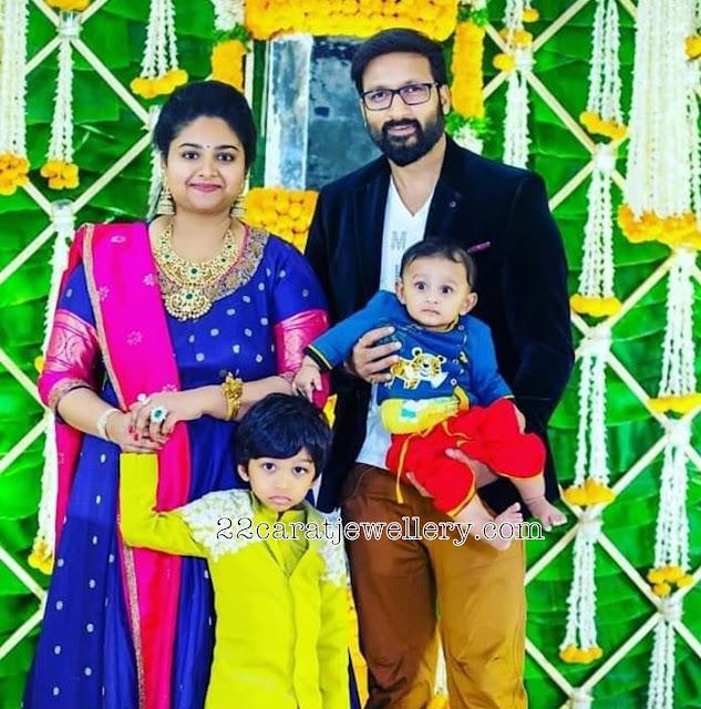 Gopichand Wife Reshma Heavy Diamond Set