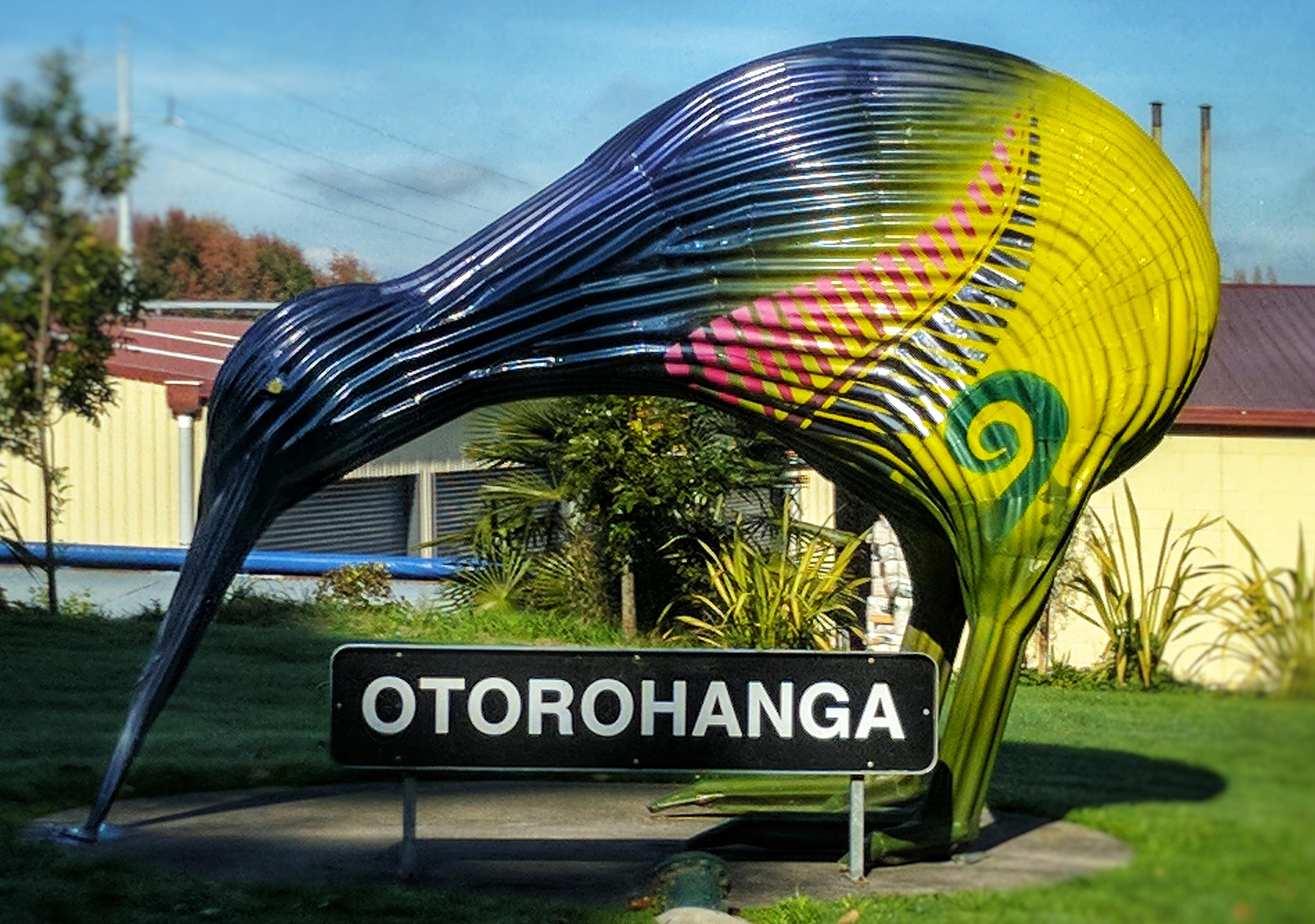 Corrugated Iron Kiwi in Otorohanga