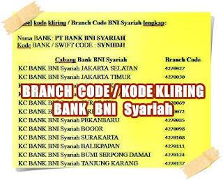 branch code bank bni syariah lengkap - kanalmu