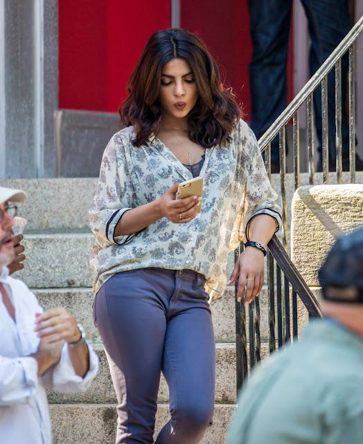 Priyanka Chopra – 'Quantico' Set in Tarrytown