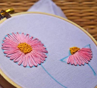 Hướng dẫn thêu hoa cúc - Hình 9
