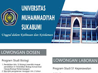 Lowongan Dosen Universitas Muhammadiyah Sukabumi