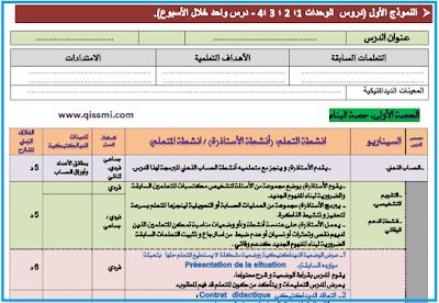 منهجية التخطيط لدروس الرياضيات بالمستويين 1+2 الأول و الثاني ابتدائي وفق المنهاج المنقح
