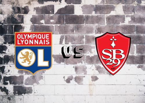 Olympique Lyon vs Brest  Resumen
