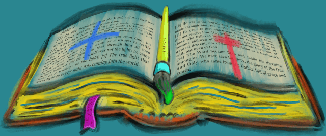 Bible Math Open Book is rare digital art by Joe Chiappetta on MakersPlace