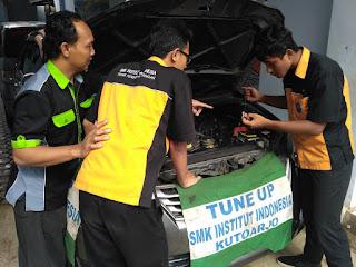 HEBAT !  SMK  Institut Indonesia Kutoarjo, Jurusan TITL & TKRO, Tangkap Peluang  Garap  Protype Mobil Listrik.