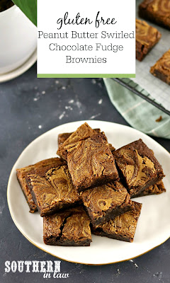 Peanut Butter Swirled Chocolate Fudge Brownie Recipe Gluten Free