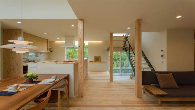 Menggunakan aksen kayu untuk konsep rumah alami