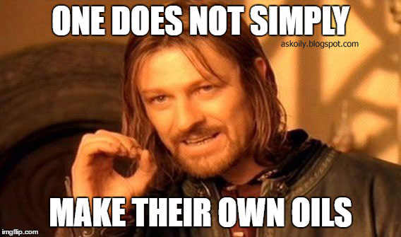 One Does Not Simply Make Their Own Essential Oils Meme | Hot Pink Crunch