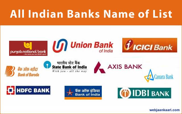 Public And Private Sector Ke All Indian Banks Name Ki List