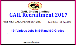 GAIL India Recruitment 2017