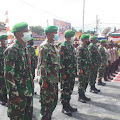 TNI di Samosir Ikuti Apel Gelar Pasukan Ops Patuh Toba 2021
