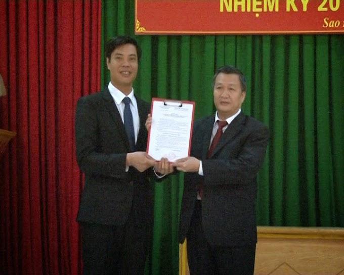 Đồng chí Nguyễn Minh Thắng giữ chức Bí thư Đảng ủy phường Sao Đỏ nhiệm kỳ 2010 - 2015