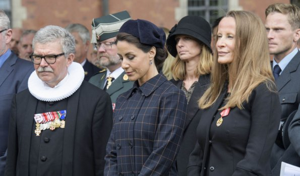 Princess Marie attends a memorial service for deceased fire and rescue services at Holmen's Church