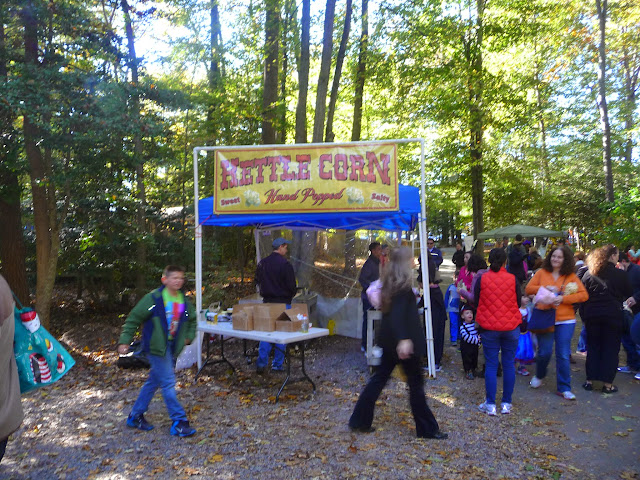 Halloween family fun on the Ghost Train at Burke Lake Park in Northern Virginia,
