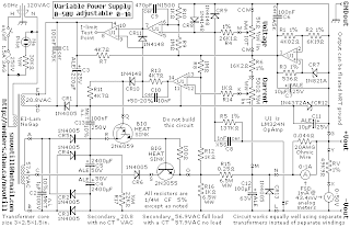 Schematic Diagram: 0 50V 1A Laboratory Power Supply