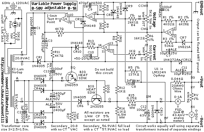 lab power supply circuit