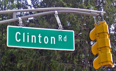 Cartel carretera Clinton Road
